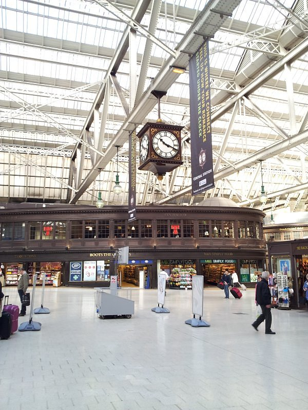 Glasgow Central Station.