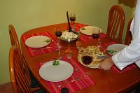 Specil dinner made by me and my brother for my dad's birthday :)