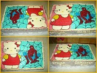 TORT HELLO KITTY I SPIDERMAN  DLA EMILKI I DAMIANKA