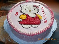 TORT KREMOWY - HELLO KITTY....