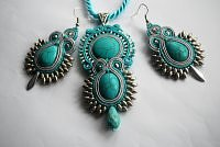 komplet sutasz turquoise and